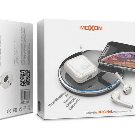 Гарнитура Bluetooth BT Moxom TWS MX-WL01S (белый)