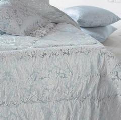 Покрывало 270х270 Blumarine Ornato серебряное