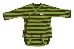 Боди-кимоно ManyMonths ECO 50-56/62 см, Зелёные полосы