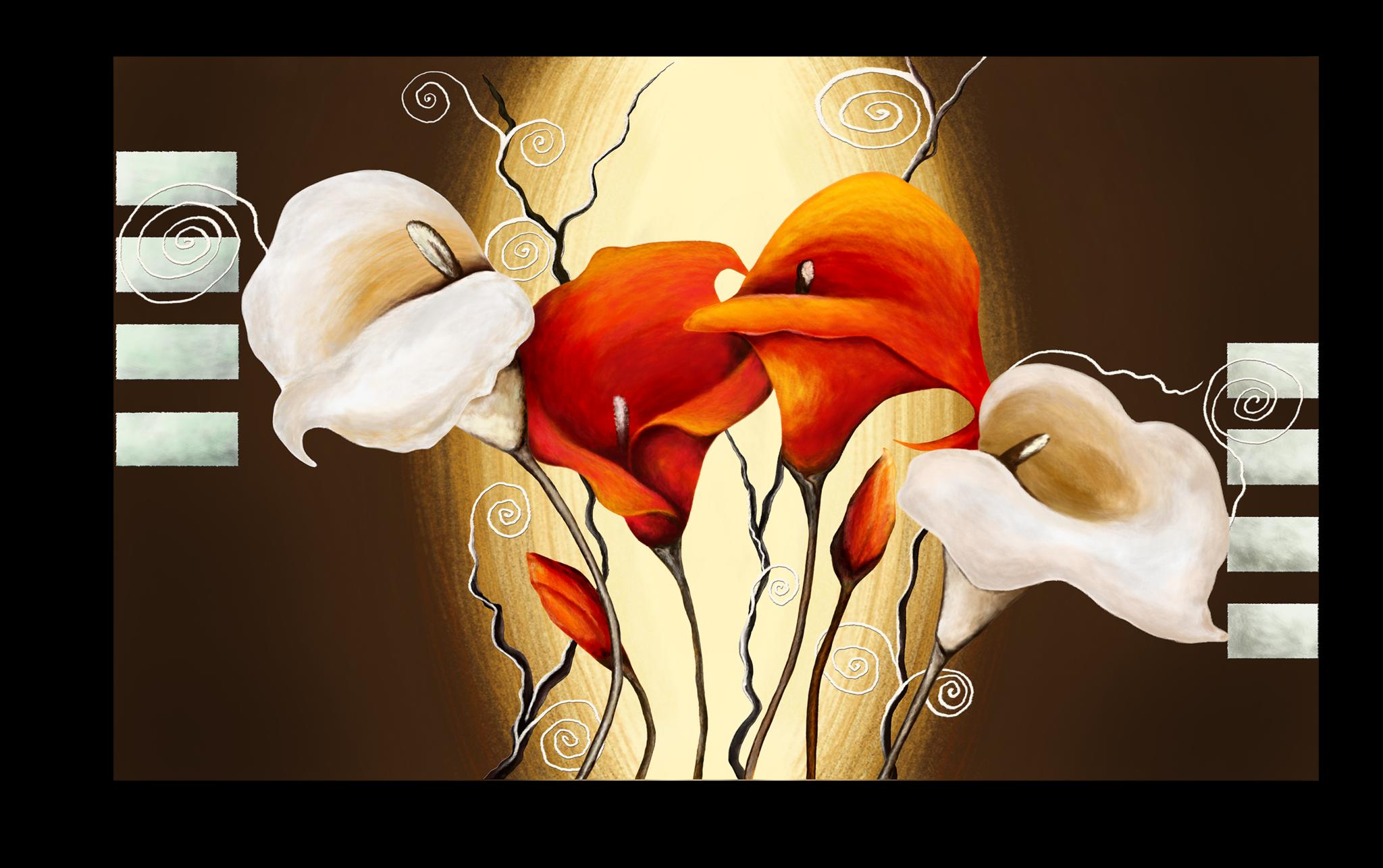 """Постеры Постер """"Коричневый цветок"""" П315.png"""