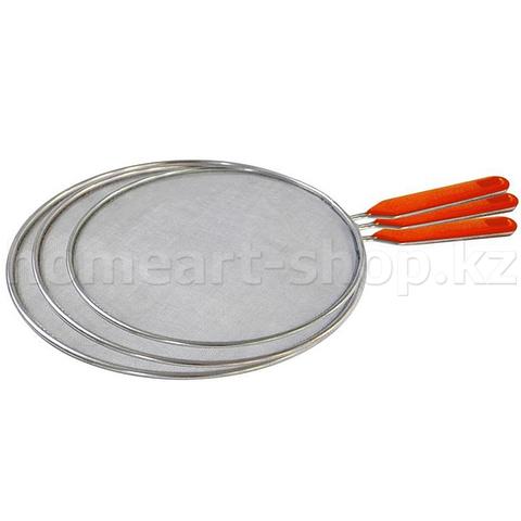 Крышка сетчатая для сковороды, набор, 3 шт