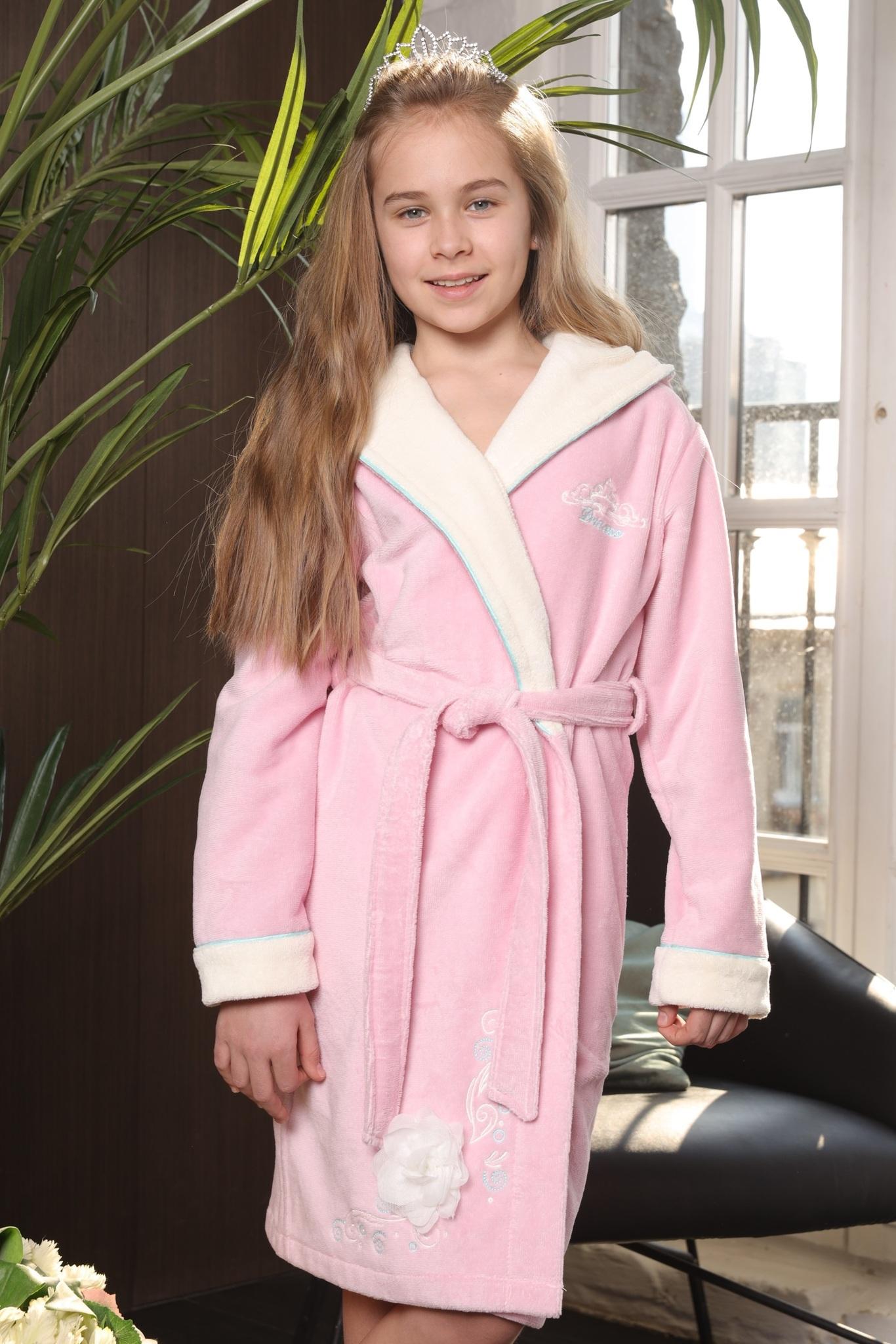 Халаты PRINCESS (розовый) детский халат для девочки  Five Wien Турция PRINCESS__розовый_.jpg