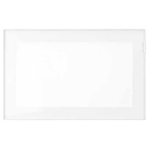 ГЛАССВИК Стеклянная дверь, белый, матовое стекло, 60x38 см