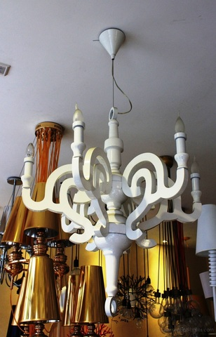 replica  Paper chandelier lamp white D70