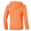 Спортивная толстовка для девочки от Асикс оранжевая с капюшоном и на молнии