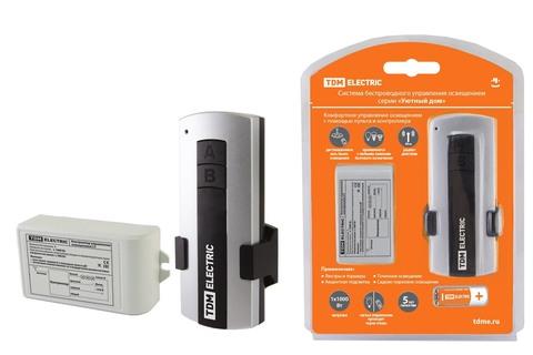 Комплект для беспроводного управления освещением ПУ1-МK-1 (1 канал)