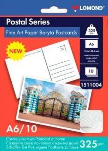 Бумага Lomond Baryta Postcard A6 325Г/М2 (1511004)