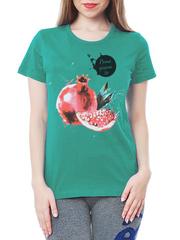 461134-2 футболка женская, зеленая