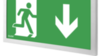 Аварийный световой указатель выход IP44 Infinity II AC Awex - белый корпус