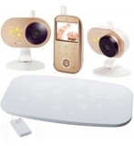 Автономная цифровая видеоняня Ramili Baby RV1200x2SP с двумя камерами и монитором дыхания Ramili® Movement Sensor Pad SP200