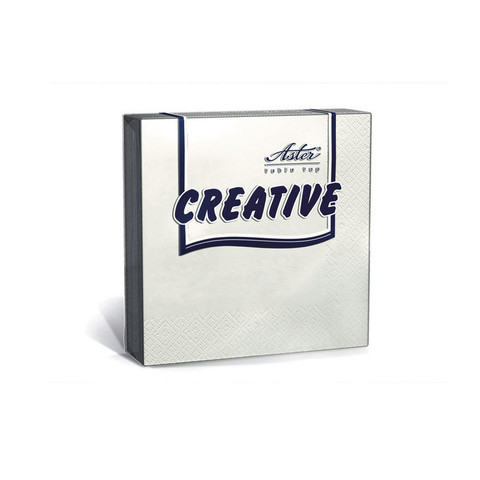Салфетки ASTER Creative 3сл.33х33 белые 20шт./уп.