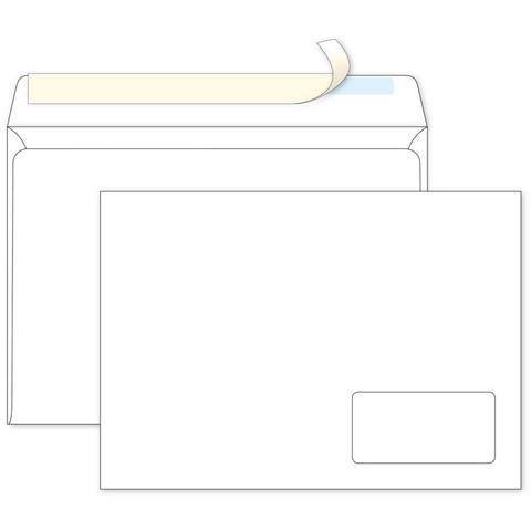Конверты С4 ECOPOST стрип прав.ниж окно (55x110) 90г/м2 250шт/уп