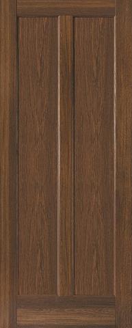 Дверь Ладора 2/6, цвет дуб коричневый, глухая