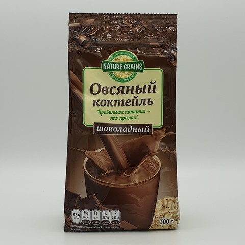 Коктейль овсяный шоколадный КОМПАС ЗДОРОВЬЯ, 300 гр