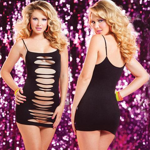Двустороннее платье с горизонтальными вырезами