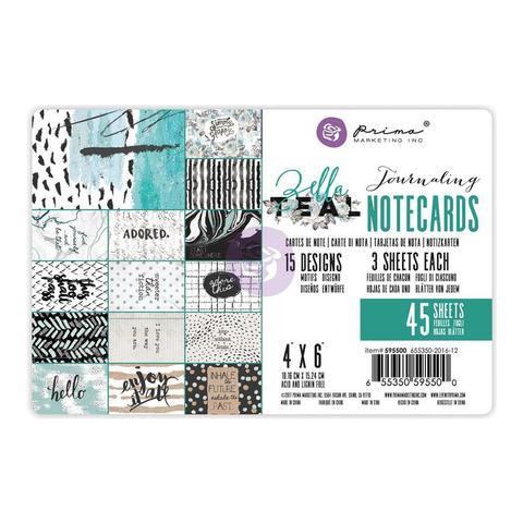 Набор журнальных карточек -Zella Teal Journaling Notecards-10х15см/45шт