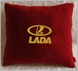 Подушка автомобильная с логотипом LADA