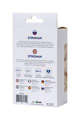 Синий силиконовый вибростимулятор простаты Stroman - 14,5 см.