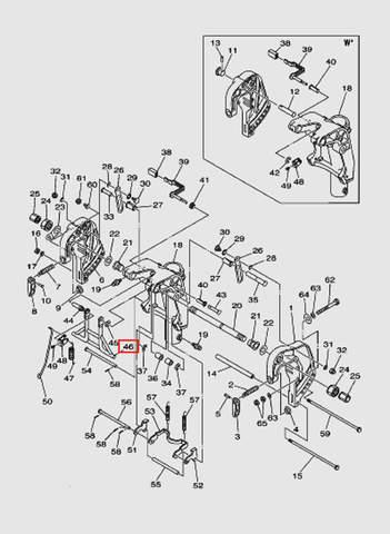 Упор в сборе для лодочного мотора T40P Sea-PRO (18-46)