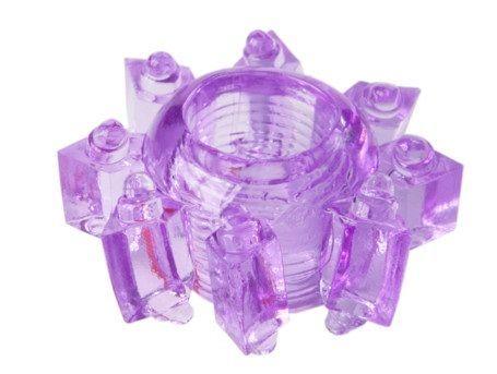 Эрекционные кольца: Фиолетовое гелевое эрекционное кольцо-звезда
