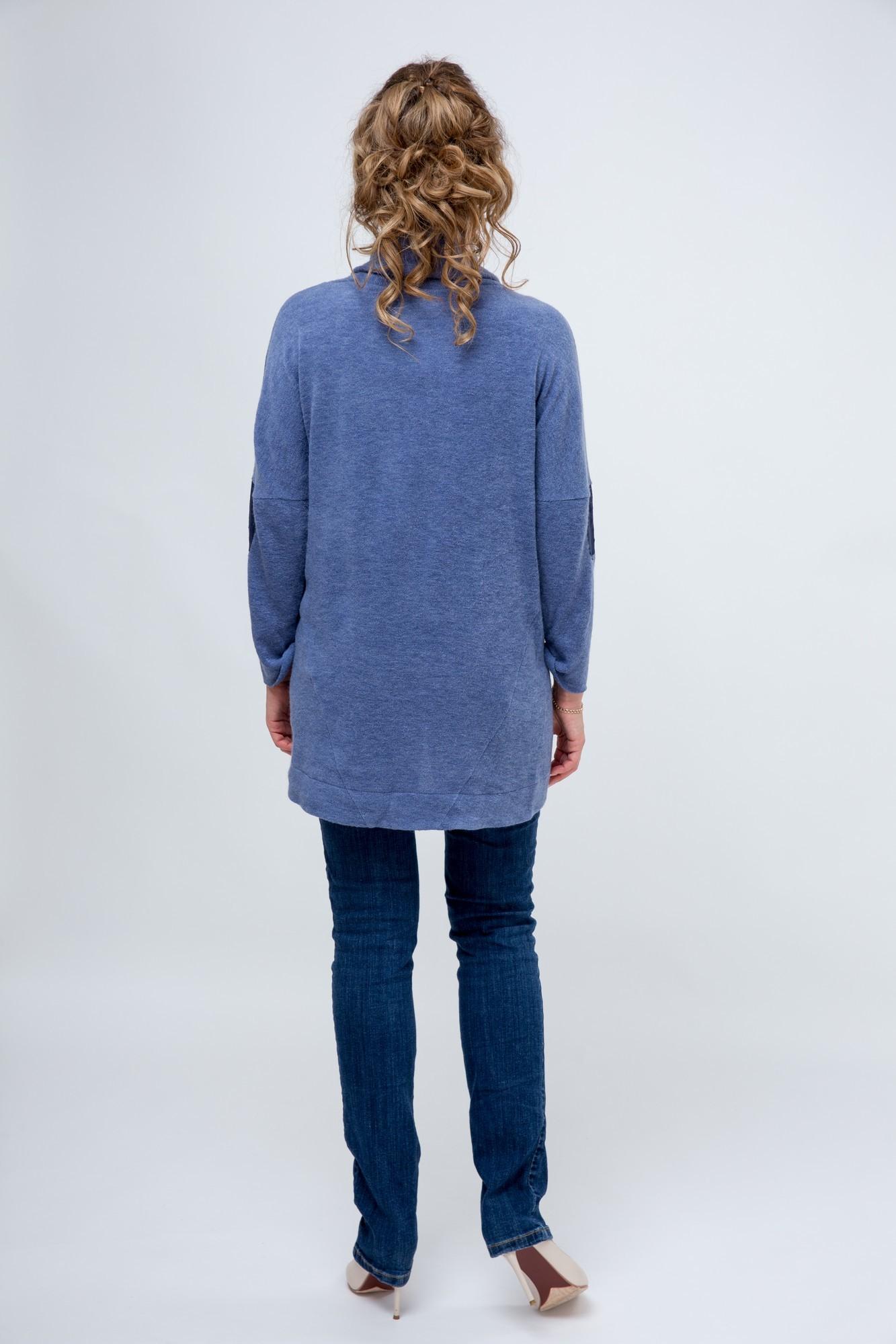 Блуза 03808 синий