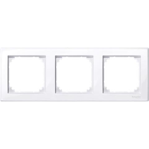 Рамка на 3 поста. Цвет Активный белый, блестящий. Merten M-smart. MTN478325