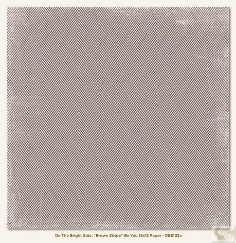 Бумага для скрапбукинга On the Bright Side Brown Stripe