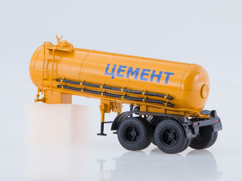 Semitrailer cement carrier ТЦ-11 orange 1:43 AutoHistory