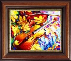 Осенняя скрипка - картина со стразами, CKC022