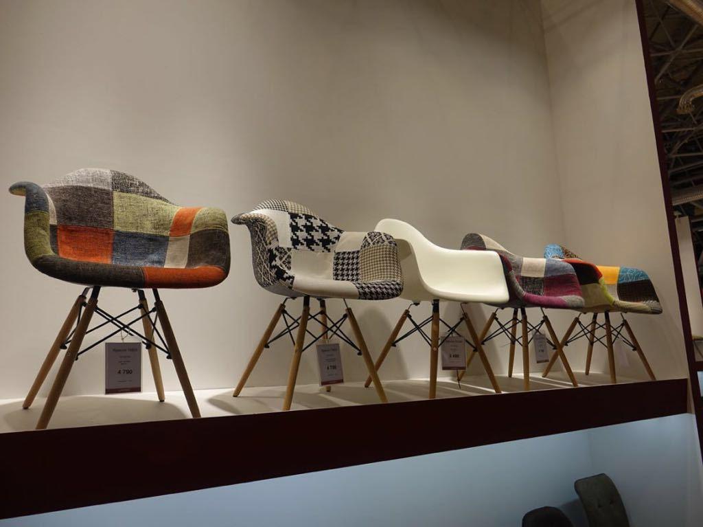 Кресло THEO BLACK+WHITE (черный/белый) и другие кресла пэчворк