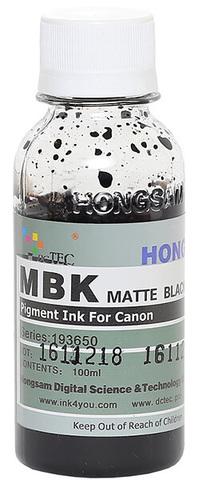 Чернила Dctec для Canon Pixma PRO, пигментные матовые черные (Matte Black), 100 мл (Серия 193650)