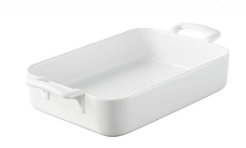 Прямоугольное фарфоровое блюдо для запекания белое, артикул 614850, серия Belle Cuisine