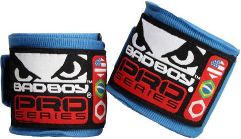 Бинты Bad Boy Hand Wraps 3.5 м Stretch - Blue