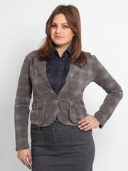 4315 пиджак женский, серый