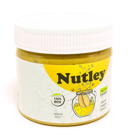 Nutley паста арахисовая с мёдом «crunchy»  300г