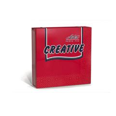 Салфетки ASTER Creative 3сл.33х33 красные 20шт./уп.