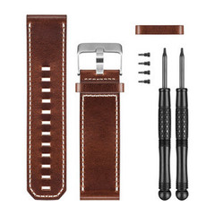 Кожаный коричневый ремешок для часов Garmin Fenix 010-12168-12