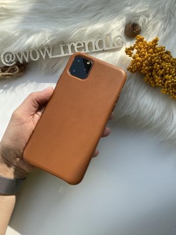 Чехол iPhone 11 Pro good Leather Case /saddle brown/
