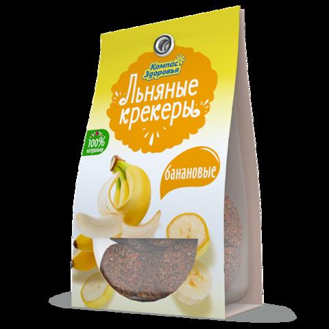 Льняные крекеры со вкусом банана,
