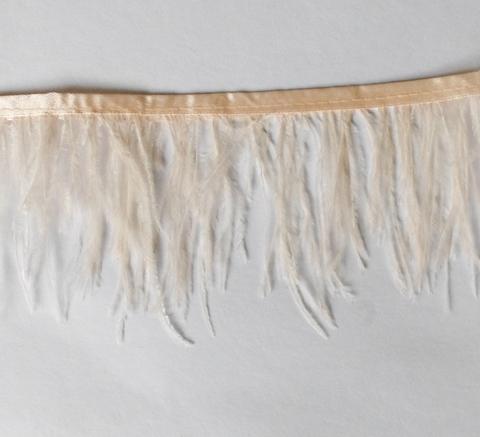 Тесьма  из перьев страуса h 8-10см., розово-персиковый
