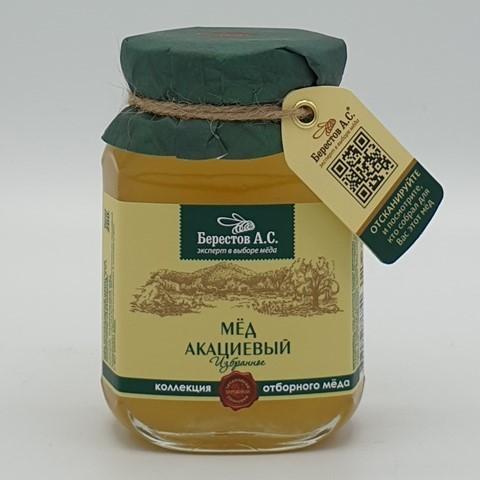 Мёд натуральный Алтайцвет Акациевый БЕРЕСТОВ А.С., 200 гр