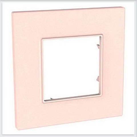 Рамка на 1 пост. Цвет Розовый жемчуг. Schneider Electric Unica Quadro. MGU4.702.37