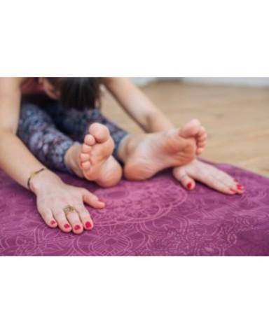 Коврик для йоги Mandala 183*61*1-3мм из микрофибры и каучука