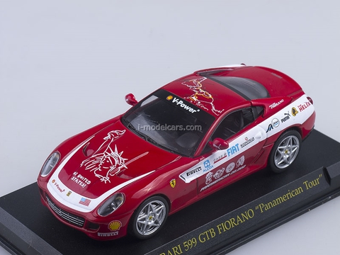Ferrari F599 GTB Fiorano Panamerican Tour 2006 red 1:43 Eaglemoss Ferrari Collection #66