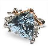 0837 Аквамарин, рубины, бриллианты