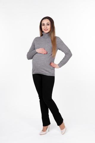 Водолазка для беременных 09908 серый