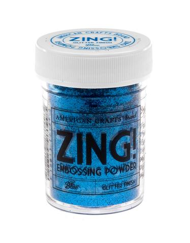 Пудра для эмбоссинга ZING! Blue Glitter