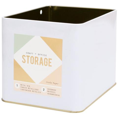 Металлическая емкость для хранения Wire System Metal Storage Bin-Large Gold