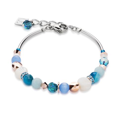 Браслет Coeur de Lion 4914/30-0607 цвет белый, синий, голубой