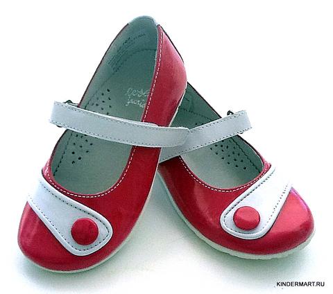 Туфли лаковые на липучках